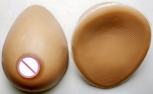 Silicone breast forms - With shoulder straps, teardrop , hollow back, tan . South Africa, Pretoria